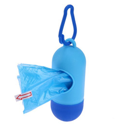plastikhundegläser Rabatt Pet Supplies Dog Poop Bag Schaufel Leine Dispenser mit Haken Mini Dog Poop Bag Boxes Freies Verschiffen