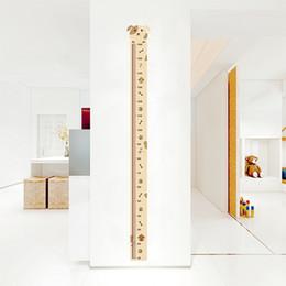 etiqueta do berçário do cão Desconto Carta de Crescimento do cão Decorativa Adesivos de Parede Do Berçário Crianças Decorações da Sala de PVC Casa Altura Medida Decalques Mural Decor Wall Art