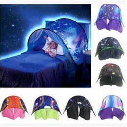 Wholesale tent style mosquito net - 7 Styles 80*230cm Folding Type Unicorn Moon White Clouds Cosmic Space Baby Mosquito Net Without Night Light CCA8545 30pcs
