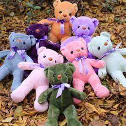 Wholesale Wholesale Valentine Stuff - teddy bear Valentine\'s Day holiday gift bear Plush Toys Stuffed Dolls Patch Bears Stuffed Animals free shipping