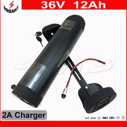 Wholesale 36v Battery For Bicycle - Electric Bicycle Battery 36V 12Ah Water Bottle Style For eBike Motor 800W With 42V 2A Charger 30A BMS Lithium eBike Battery 36V