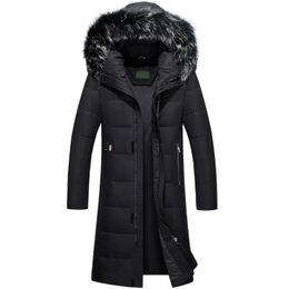 Wholesale Knee Length Winter Coats - Wholesale-2017 New Over-knees Length Down Coat Man Plus Size Thick Waterproof Winter Parka Men