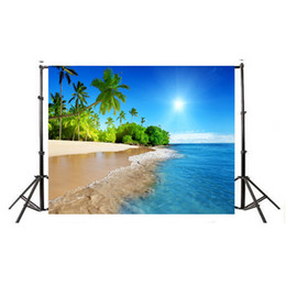 Wholesale painting fabrics - Summer Seascape Beach Dreamlike Haloes 3D Photography Background Screen Photo Video Photography Studio Fabric Props Backdrop