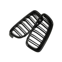 F30 Car Styling Grill M3 Style Rene Carbon Black Griglia di ricambio per BMW F30 F31 2012 UP 320i 325i 328i 335i Nero lucido da