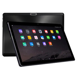 Планшеты дюймовые онлайн-10 inch tablet 2.5D Tempered Glass Android 7.0 Octa Core 4GB RAM 64GB ROM 8 Cores 1280*800 IPS Screen Tablets 10.1 + Gift