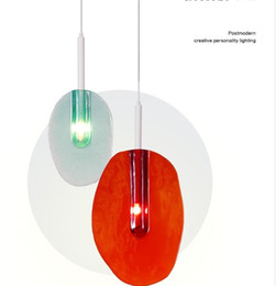 Wholesale hanging glass lamp shades - Italy New Design Lollipops Pendant Light Colorful Glass Shades Hanging Lamp Lustre G9 Led Pendant Lamp Luminaria Suspend Lamp LLFA