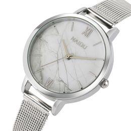 2019 самые маленькие наручные часы Fashion Silver Stainless Steel Band Women's Bracelet Watches Small Dial Marble Pattern Lady Wrist Watch Casual Female Clock Gift скидка самые маленькие наручные часы