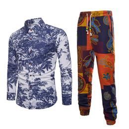 0c5abaf675 EleChinese Style Men Set Vacation Beach Suit Fashion Mens Fitness Vintage  Clothing Novelty Plus Size Sets Male Clothing beach vacation clothing on  sale
