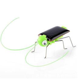 Juguetes de insectos para niños online-Bebé Energía Solar Energía Insecto Grasshopper Cricket Niños Juguete Regalo Novedad Solar Divertido Juguete Educativo KKA5726