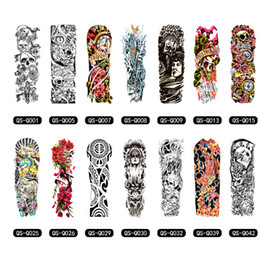 Wholesale temporary tattoo sleeves for men - Temporary Tattoo Sleeve Designs Full Arm Waterproof Tattoos For Cool Men Women Transferable Tattoos Stickers On The Body Art