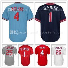 Wholesale Molina Baseball - Mens St. Louis 1 4 Yadier Molina 25 Dexter Fowler Baseball Jerseys Adult Embroidery Logos 100% Stitched