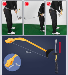 Wholesale Golf Alignment Training Aids - swing trainer Golf Practice Swing Educational Trainer Guide Gesture Alignment Training Wrist Correct Aid Plane Tool Club Golf Training Aids