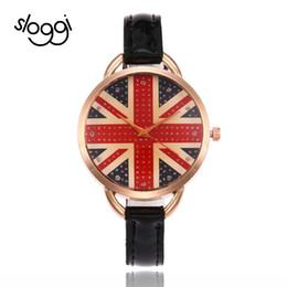 Argentina Sloggi new Personality Casual Watch Simple Flag of the British brown color glass Reloj de pulsera de cuarzo para mujer Reloj-mujer supplier quartz colours watch Suministro