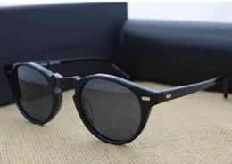 Wholesale Oliver People - Men Women Driving Oliver Polarized Sunglasses Peoples OV5186 Retro Glasses OV 5186 Colorful Rectangle Sun glasses Eyewear with original box