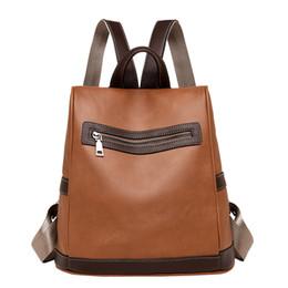 9369358bcf4 Vintage PU School Bags for Girls Backpacks Satchel Women Travel Shoulder Rucksacks  Back Pack 2018 Bolsas