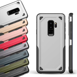 Wholesale galaxy fit case - Hybrid Armor Case Dual Layer Tough Case For Galaxy S8 S9 Plus Anti-Scratch TPU PC Shockproof Case For iPhone X 6 7 8 Plus