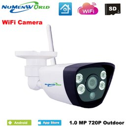 Wholesale Wired Network Ip Camera - NuMenWorld Wireless IP cam 720P SD HD P2P 802.11b g n wifi network Wired IP Camera IR Outdoor Waterproof Camera ABS Plastic