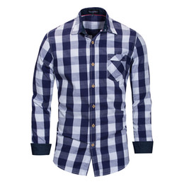 3fb26010 Wholesale Men Casual Plaid Shirts Men's Polo Solid Fashion Luxury Stylish  Long Sleeved Casual Designer Dress Polka Shirt Muscle Fit Shirts