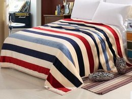 Wholesale Thick Winter Quilts - Wholesale High quality flannel fleece winter thick blanket throw Super soft bed blanket cover coperta quilts and blankets EAB001