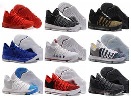 Wholesale Kds Shoes - Kevin Durant 10 Basketball Shoes 2018 For Sale Kevin Durant Shoe KD 10 Shoes Oreo KDs Anniversary Heaven Bird Mens Sport Sneakers Shoes