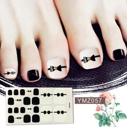 22tips/sheet Waterproof Toe Nail Stickers Full Cover Foot Decals Toe Nail Wraps Adhesive Stickers DIY Salon Manicure Wholesale от
