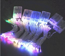Wholesale Sparkle Battery - 2016 New 3M 30 LEDs Battery Operated Mini LED Copper Wire String Fairy Sparkle Lights Party Xmas