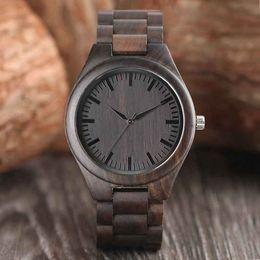 Wholesale Bangle Resin - Creative Full Natural Wood Watch Handmade Ebony Wooden Novel Fashion Casual Men Women Wooden Bangle Quartz Wristwatch Gifts Reloj de madera