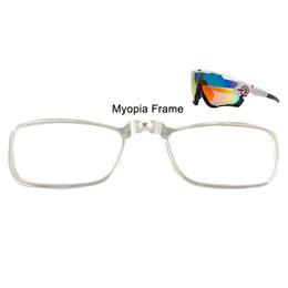 Gafas de ciclo miopía online-JBR Myopia Frame Bike Bicicleta Ciclismo Gafas de sol Gafas con montura interior Lente miope