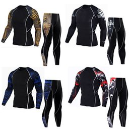 Wholesale Mma Xl T Shirts - Hot! 2018 Men T shirts MMA Long Sleeve T-shirt Men's Compression Shirts Fitness Bodybuilding Black White Clothes