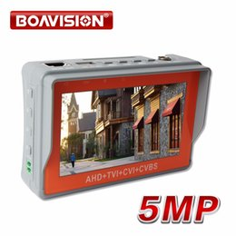 Wholesale Cctv Monitor Tester Ptz - Newest 4.3 Inch 5MP 4MP AHD CCTV Tester Analog CVBS AHD TVI CVI Camera Tester Monitor UPT PTZ Audio Test DC12V Output
