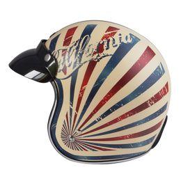 Wholesale Motorcycle Open Face Dot Helmet - New TORC V541 classic vintage motorcycle helmet open face retro moto helmets individuality scooter Vespa motorbike helmet DOT