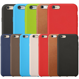 Wholesale Leather Case Iphone 5s - Original Official Leather Case Retro Style Business Slim Hard PU Shock Microfiber Cushion Cover Case for Apple iPhone X 8 Plus 7 6 6S 5 5S