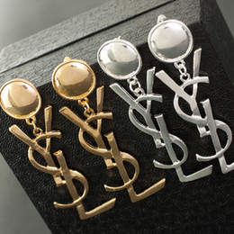 Wholesale enamel gold plated - Wholesale PCS! Brand 14K Gold Silver Stud Earrings Pearl Diamond Corsage Classic Designer Letter Logo Collar Pin Party Wedding Jewelry AA1