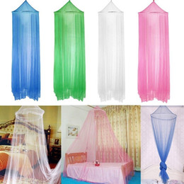 Wholesale Canopy Homes - Elegant Round Lace Mosquito Net Insect Bed Canopy Netting Curtain Dome Mosquito Net Home Room 4colors FFA472 30PCS 187*59cm