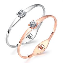 2020 i migliori modelli in oro dei braccialetti Fate Love New Design bracciale in acciaio inossidabile oro rosa e argento colore bracciali per Lady Open Bangles migliori gioielli regali FL920 i migliori modelli in oro dei braccialetti economici