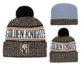 6b0d1269287 Discount golden hat - 4 Colors Knights Striped Style Cheap Hockey Vegas  Golden Beanies Wholesale Brand