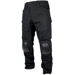 CQC Pantalones tácticos Ejército negro Caza Paintball Hombres Camuflaje de carga Pantalones de combate BDU con rodilleras desde fabricantes