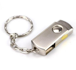 Wholesale 128gb Flash Drive Metal - DHL 64GB 128GB 256GB Gold Silver Metal With Key ring Swive USB 2.0 Flash Drive Memory for Android ISO Smartphones Tablets