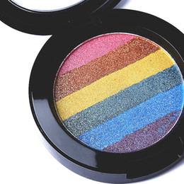 Wholesale Baked Powder Makeup - 2017 NEW Ucanbe eye shadow Rainbow Baking powder makeup high-light blush high quality makeup eyeshadow wholesale