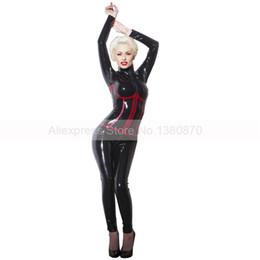2019 резиновые колготки Slim Rubber Latex Female Catsuit with Front Zip Latex Club Wear Tight Bodysuit Clothes with False Corset S-LC296 дешево резиновые колготки