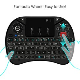 Wholesale Tv Air Phone - Original Rii i8X Backlit Wireless Keyboard 2.4G Air Mouse Keyboards Handheld Touchpad gaming keyboard for phone Tv box android