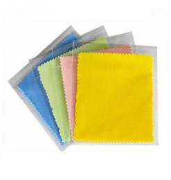 Brillen Tuch Großhandel Microfiber Gläser Tuch Objektiv Kleidung Gelb Blau Grün Rosa 4 Farben Und Nicht Woven Stoff D0517 von Fabrikanten