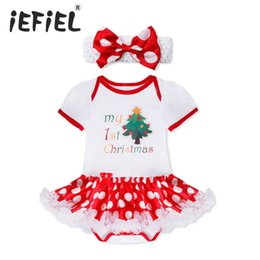 8852d37757e6 2017 New Christmas Baby Costumes Cloth Infant Toddler Baby Girls My First  Christmas Outfits Newborn Romper Set discount baby girl first christmas  outfits
