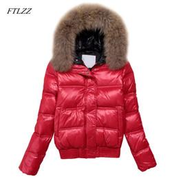 59464df9a20 Al por mayor chaqueta de piel real de largo en venta - FTLZZ Con Capucha  Chaqueta