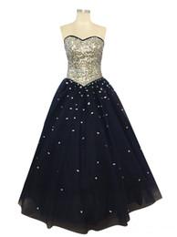 Argentina Azul marino Cristalino de lentejuelas vestidos de baile buen diseño Sexy novia vestido de bola palabra de longitud vestidos formales vestido Suministro