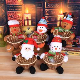 2019 cestini decorativi Decorazioni natalizie cestini di caramelle Decorazioni per la tavola di Natale cestini per caramelle per bambini borse Decorazioni natalizie scatole di caramelle grandi cestini decorativi economici