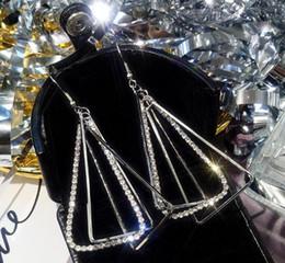 diamantes perfectos Rebajas nuevos aretes largos geométricos exagerados con pendientes de diamantes y triángulos son perfectos para hacer coincidir los pendientes colgantes simples y de moda