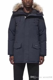 Revestimento de raccoon dos homens xl on-line-Grande pele de guaxinim 2018 Brand New Mens grosso Ganso Para Baixo Fogo Rinoceronte CHATEAU Parka Casaco de Inverno Quente casaco