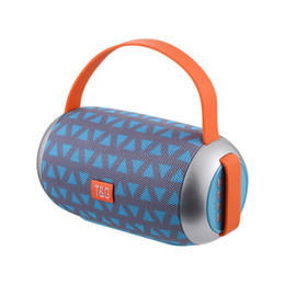 Wholesale Mobile Phone Horn - New TG112 Portable Hand-held Bluetooth speaker Double Horn outdoor travel wireless subwoofer Support TF FM Card