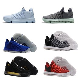 Wholesale Kd Size 12 Men - Top Quality Kids Basketball Shoes KD 10 PE Finals Game 1 Men Women Kevin Durant Basketball Shoes Sneakers With Box Size US 4-12